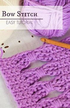 How To: Crochet The Bow (Butterfly) Stitch - Easy Tutorial