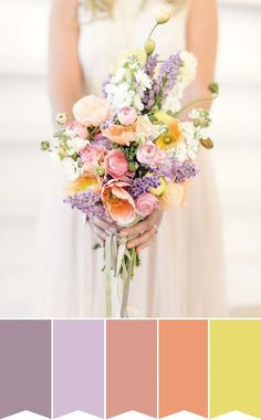 Spring Pastel Bouquet | Pretty Bouquet Palettes to Inspire your Spring Wedding | www.onefabday.com