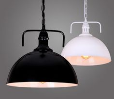 Details About Big Black White Metal Cover Ceiling Lamp Pendant Lighting Home Cafe Retro Luk Dining Room