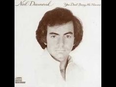 "Neil Diamond - Forever in Blue Jeans (Stereo!when this song first came out, I thought it said ""reverend blue jeans"" lol 70s Music, Good Music, Reggae Music, Blues Music, Solitary Man, Neil Diamond Albums, Diamond Songs, Diamond Music, Blue Jeans"