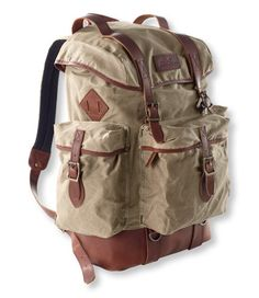 8c94b8f057 Discover the features of our Heritage Waxed Canvas Continental Rucksack at  L.L.Bean