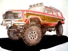 AMC Jeep Wagoneer drawing by prestonthecarartist on DeviantArt