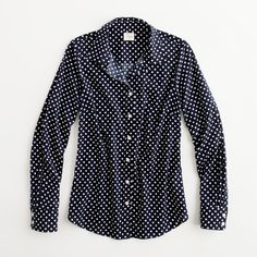 Factory perfect shirt in printed cotton ($35) ❤ liked on Polyvore