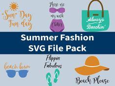 Summer Fashion SVG File Pack