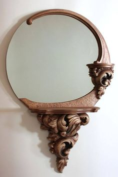 Unique Wood Carving Furniture for Your Home Decoration - Boffo Interior Wood Carving Designs, Wood Carving Art, Wood Carvings, Spiegel Design, Cool Mirrors, Wood Framed Mirror, Wooden Art, Wood Design, Art Deco