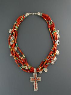 Red Coral Treasure Necklace