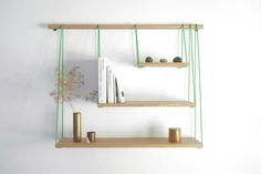 Simple And Elegant Shelving Unit Inspired by Suspension Bridges #Bridge, #Shelves