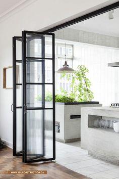 Accordion metal door frame. #door #metal #house #housedecor #interior info@lblconstruction.ca | +961 3 11 99 49