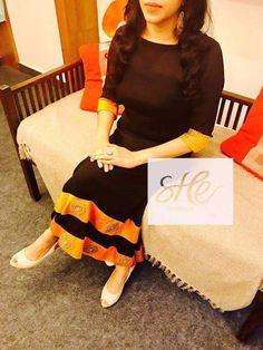 Latest Kurta Designs, Simple Kurta Designs, Kurta Designs Women, Pakistani Outfits, Indian Outfits, Indian Attire, Indian Dresses, Indian Wear, Model Dress Batik