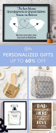 Sign up to shop customized gifts for mom and dad. Delight the parental figures in your life with heartfelt finds from this collection curated with moms and dads in mind. Deal ends 11/8.