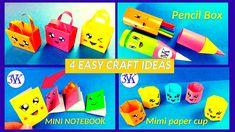 4 EASY CRAFT IDEAS | School Craft Idea| DIY Craft| Origami craft
