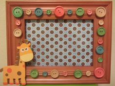 Baby Picture Frame Childrens FrameGiraffe by tastefulcreation, $15.00