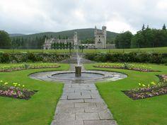 Balmoral Castle - from Queen Mary's garden - Royal Deeside, Aberdeenshire, Scotland.