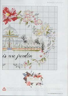 """Photo from album """"Creation point de croix № 57 ( May- on Yandex. Cross Stitch House, Small Cross Stitch, Just Cross Stitch, Cross Stitch Needles, Cross Stitch Cards, Cross Stitch Baby, Cross Stitch Samplers, Cross Stitch Flowers, Cross Stitch Designs"""