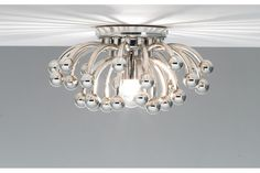 Anemone Chrome Robert Abbey Flushmount Ceiling or Wall Light