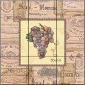 Fruit /Vege decorative tile-Grapes I-Tile Mural Tumbled Marble Tile, Marble Tiles, Decorative Tile Backsplash, Kitchen Backsplash, Tile Murals, Wall Tiles, Fruit Picture, Fruits Images, Tile Projects