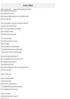 Real love (Amor verdadero) Letras de