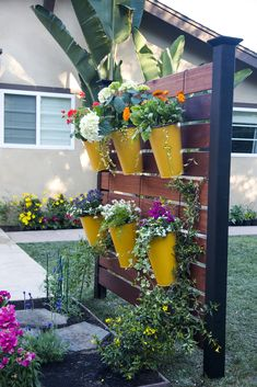 Liven up your garden with a DIY vertical garden. You'll be so pleased with your work, you'll want to host a garden party every weekend.