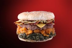 Toni's Soul Burger | A Soul Food Meal in a Bun...it sounds wrong but tastes oh so right.  Greens, yams, and dressing!