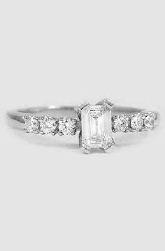 18K White Gold Posie Diamond Ring