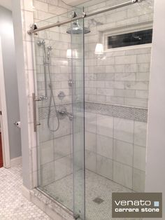 subway tiles in attic bathroom | Carrara Venato 4×12″ Subway Tile Polished $8.00SF installed in ...