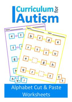 Alphabet Cut & Paste Worksheets for Students with Autism and Special…