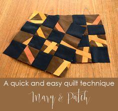 Maryandpatch, Quick quilt technique