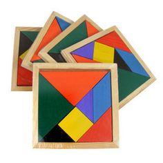 # Wooden Tangram Intellectual Development of Early Childhood Brain Training Geometry