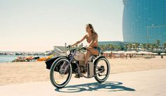 rayvolt's cruzer is a vintage-styled electric bike built for the beach