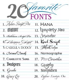 20 Favorite Free Fonts {all in one zip file!}