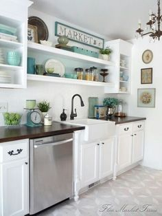 Farmhouse Sink and dark countertops
