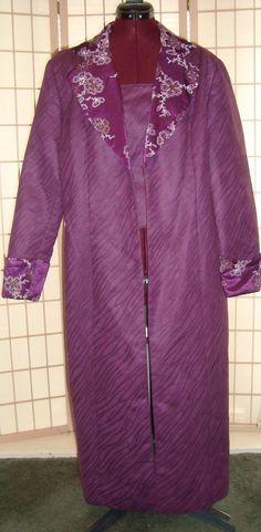 S.O.G.I.C Sz 18 Women's Purple Zebra Print Faux Suede Open Front Long Coat  #SOGIC #BasicCoat