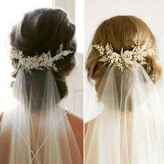 Wedding veil with hair up style inspo