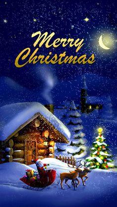 noel wallpaper christmas images f - noel Christmas Night, Christmas Scenes, Christmas Art, Beautiful Christmas, Vintage Christmas, Christmas Holidays, Merry Christmas Pictures, Merry Christmas Images, Xmas
