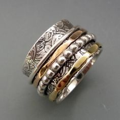 Spinner Rings For Women, Meditation Worry Fidget Rings For Women And Men, Thumb Ring ,Rings For Women, Christmas gifts Unique Diamond Engagement Rings, Diamond Wedding Bands, Unique Rings, Wedding Rings, Thumb Rings, Spinner Rings, Fine Jewelry, Silver Jewelry, Jewellery