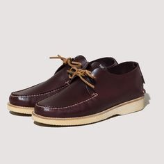 Lawson Leather Moccasin Vibram Sole - Oxblood | Yogi | Peggs & son