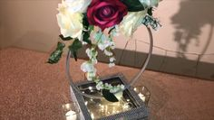 Diy wedding decorations - hoop centerpiece perfect for bridalshower or any event shadowbox decor wedding diywedding diyweddingdecor diyweddingideas weddingdesign diy diywedding weddingdeco Dollar Tree Centerpieces, Romantic Centerpieces, Diy Centerpieces, Diy Wedding Decorations, Balloon Decorations, Decor Wedding, Dinner Table Centerpieces, Quinceanera Centerpieces, Centerpiece Wedding