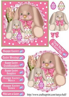 Cute Easter Puppies With Eggs Quick Card