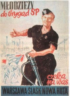 PRL poster Communist Propaganda, Propaganda Art, Poland People, Good Old Times, Old Advertisements, Vintage Posters, Retro Posters, Warsaw, Eastern Europe