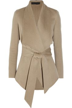 Donna Karan|Belted cashmere jacket |NET-A-PORTER.COM