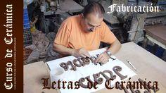 Curso de Cerámica - Fabricar Letras en Cerámica - Parte 1