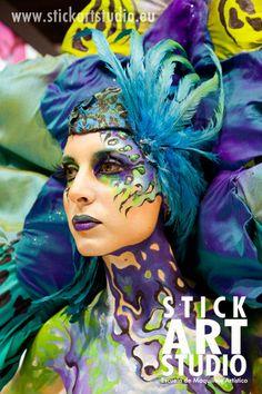 Escuela de maquillaje artístico Stick Art Studio.  Realizado por Alejandra Ortiz, maestra de nuestra escuela.  Barcelona, España.
