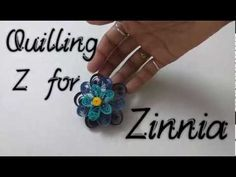 How to Quill a Zinnia | Quilling A to Z with YellowMellowLife | Z for Zi...