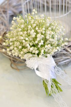 Lily of the Valley wedding bouquet / Vjenčani buket od đurđica   Bouquet by Pollak cvijeće Photo by Pollak cvijeće  Like us : https://www.facebook.com/pollakcvijece