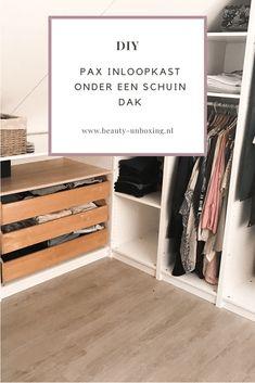 Super Walk In Closet Schuin Dak Ikea Ideas Attic Closet, Master Bedroom Closet, Pax Closet, Bedroom Loft, Walk In Closet, Bedroom Decor, Small Bedroom Storage, Small Room Bedroom, Small Bedroom Inspiration