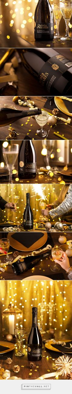 Vinho Espumante Quinta D'Amares Wine - Packaging of the World - Creative Package Design Gallery - http://www.packagingoftheworld.com/2017/12/vinho-espumante-quinta-damares.html