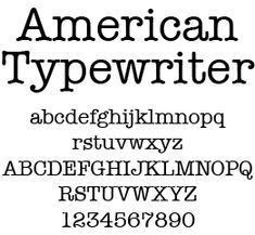 font for logo Collateral Design, Slab Serif, Serif Typeface, School Notes, Typewriter, Fonts, Stress, Typography, American