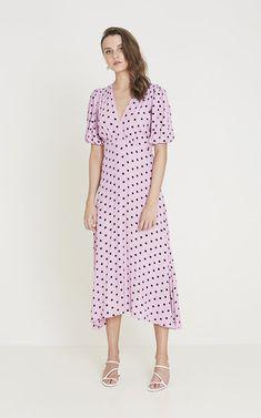 f00a3fccfe Faithfull The Brand Vittoria Polka Dot Midi Dress