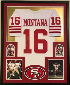 5215e88656b FRAMED JOE MONTANA AUTOGRAPHED SIGNED INSCR SAN FRANCISCO 49ERS JERSEY GTSM  HOLO (eBay Link)