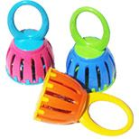 Cage Bell:  Musical toy teaches cause & effect, encourages motor development, provides visual & auditory stimulation